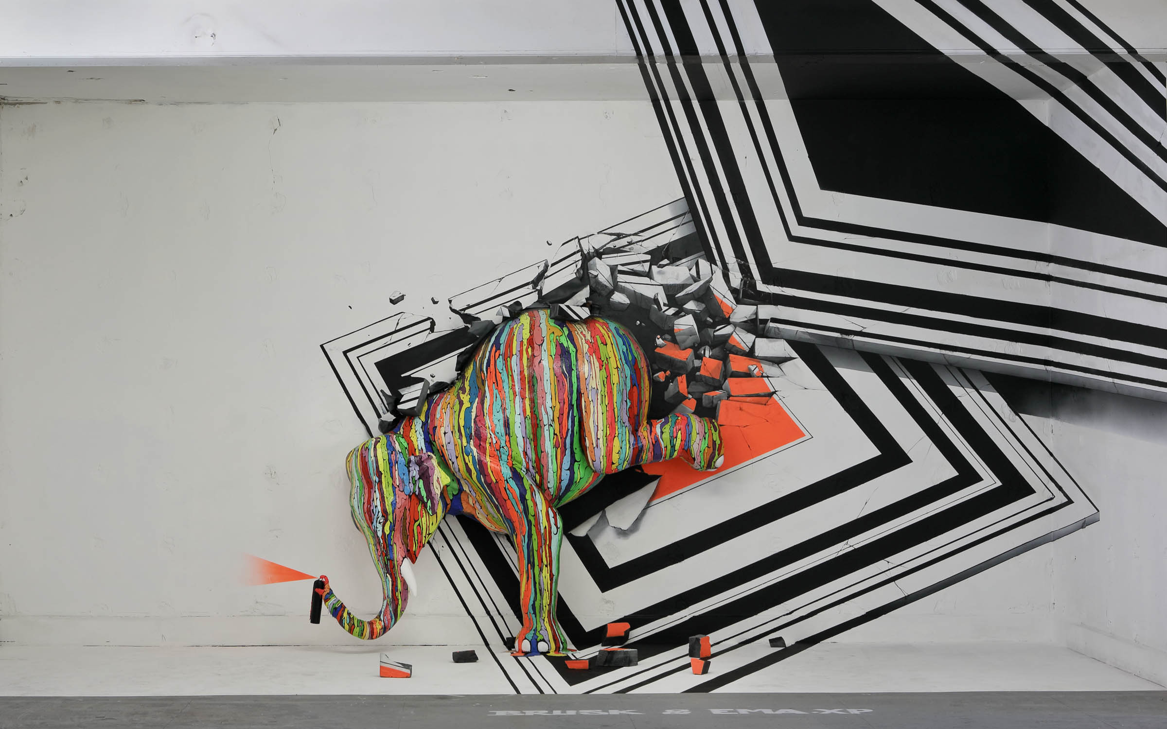 LYON-HIP-HOP-Zoo-Art-Show-Brusk-Ema-XP-anamorphose